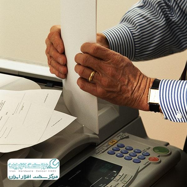 چاپ خطوط اضافی در دستگاه کپی